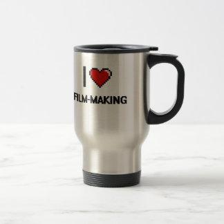 I Love Film-Making Digital Retro Design 15 Oz Stainless Steel Travel Mug