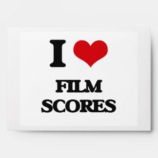 I Love FILM SCORES Envelopes
