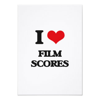 I Love FILM SCORES Announcement Card