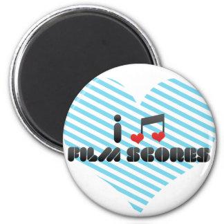 I Love Film Scores Refrigerator Magnet