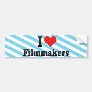 I Love Filmmakers Car Bumper Sticker