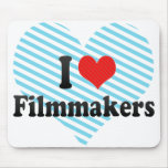 I Love Filmmakers Mouse Pad