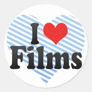 I Love Films Classic Round Sticker
