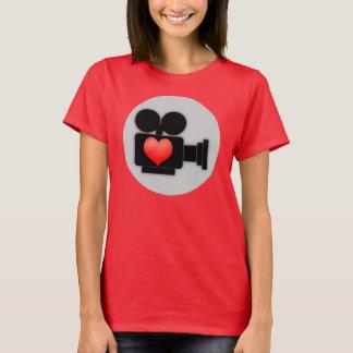 I LOVE FILMS (MOVIE CAMERA AND HEART) T-Shirt