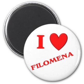 I Love Filomena Magnets