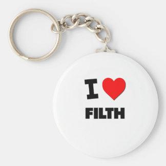 I Love Filth Keychain