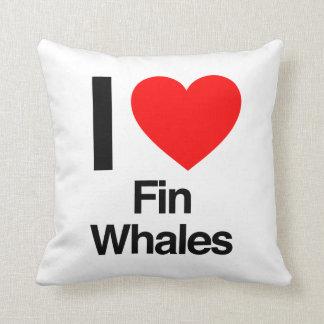 i love fin whales throw pillows