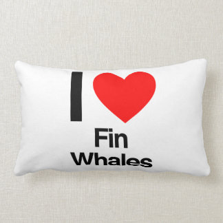 i love fin whales pillow
