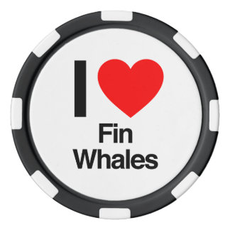 i love fin whales poker chips set
