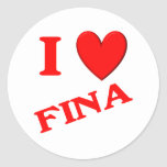 I Love Fina Sticker