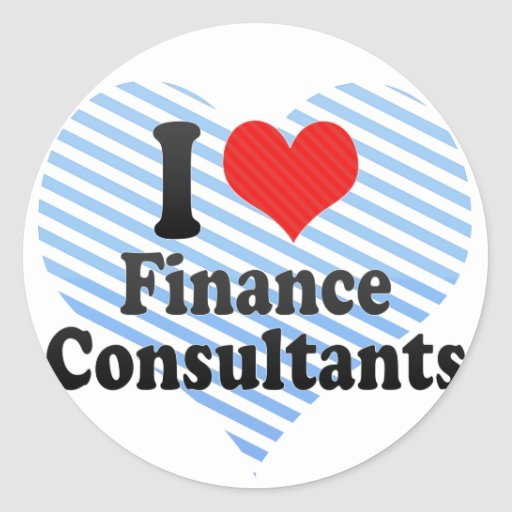 I Love Finance Consultants Stickers