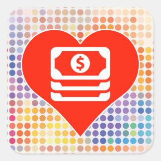 I Love Finance Square Sticker