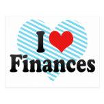 I Love Finances Post Card