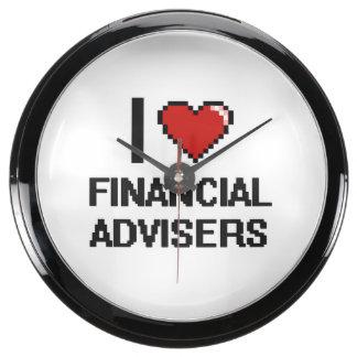I love Financial Advisers Fish Tank Clocks