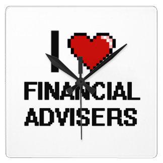 I love Financial Advisers Square Wallclocks