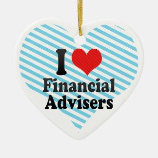 I Love Financial Advisers Christmas Ornaments