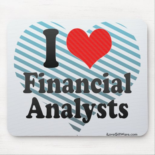 I Love Financial Analysts Mouse Pad