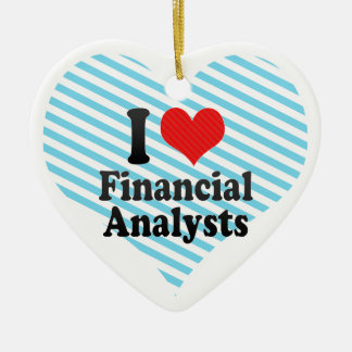 I Love Financial Analysts Christmas Ornaments