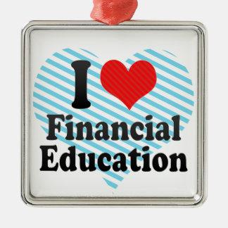 I Love Financial Education Christmas Ornaments