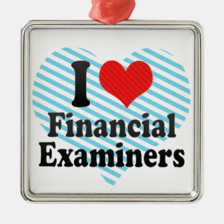 I Love Financial Examiners Christmas Tree Ornament