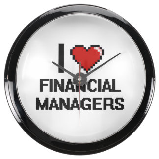I love Financial Managers Aquavista Clock