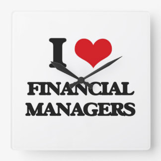 I love Financial Managers Clock