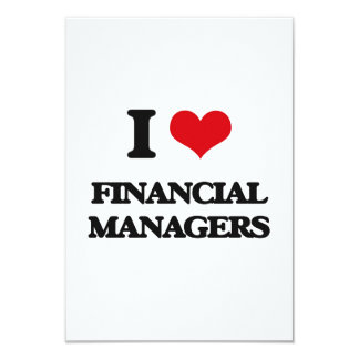 I love Financial Managers Personalized Invitation