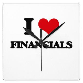 i LOVE fINANCIALS Square Wallclock