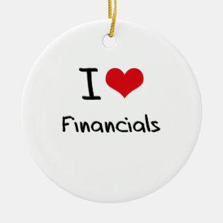I Love Financials Ornament