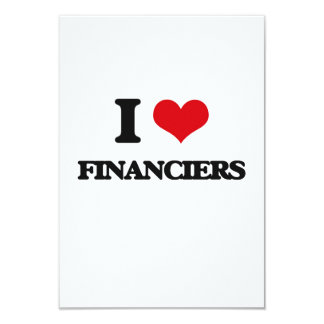 I love Financiers Personalized Announcement