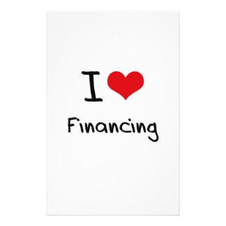 I Love Financing Stationery