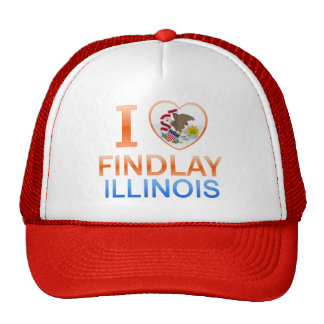 I Love Findlay IL Hats