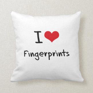 I Love Fingerprints Pillows