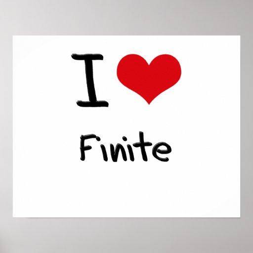 I Love Finite Poster