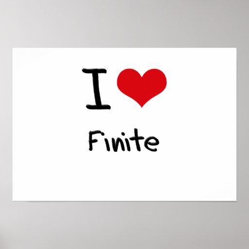 I Love Finite Print