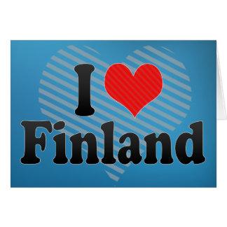I Love Finland Greeting Card