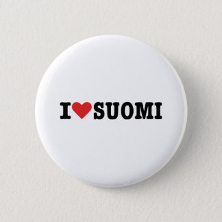 I love Finland Pinback Button