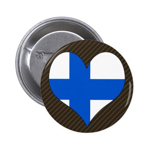 I Love Finland Pinback Buttons