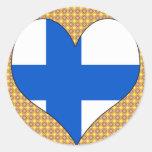I Love Finland Round Sticker