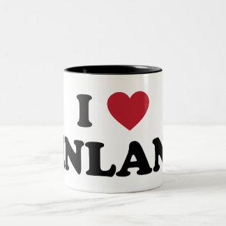 I Love Finland Two-Tone Coffee Mug