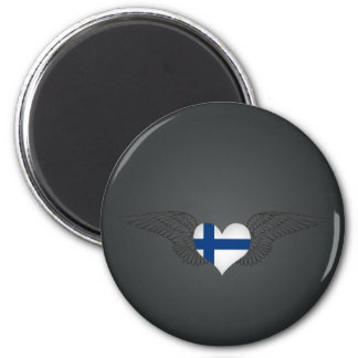 I Love Finland -wings 2 Inch Round Magnet