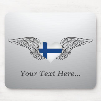 I Love Finland -wings Mouse Pad