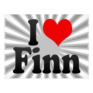 I love Finn Postcard