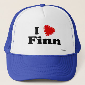 I Love Finn Trucker Hat