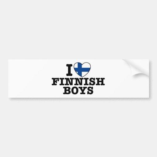 I Love Finnish Boys Bumper Stickers
