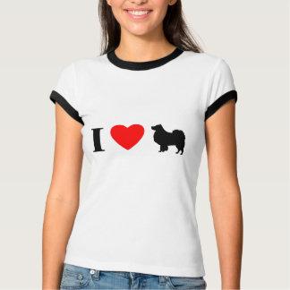 I Love Finnish Lapphunds Ladies Ringer T-Shirt
