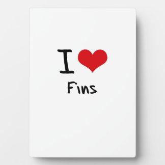 I Love Fins Plaques