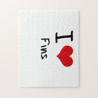 I Love Fins Jigsaw Puzzle
