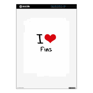 I Love Fins Skins For The iPad 2