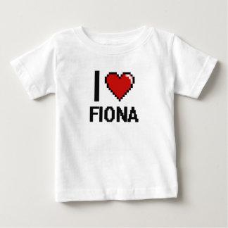 I Love Fiona Digital Retro Design Infant T-shirt